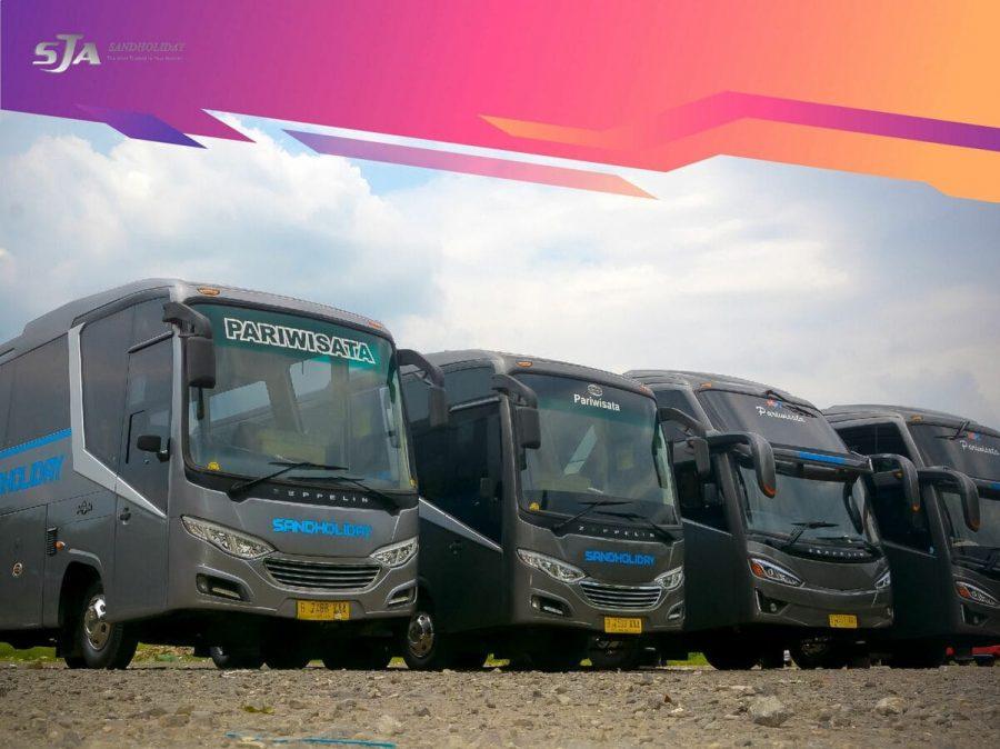 Sewa bus pariwisata di Jakarta Sandholiday